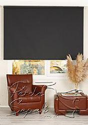 Siyah Linen Stor Perde - 2