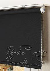 Siyah Linen Stor Perde - 4