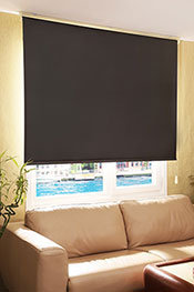 Siyah Sedefli Shiny Blackout Stor Perde -
