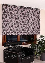Gri Üzerine Siyah Çiçek Desenli Mucize Serisi Stor Perde - 3