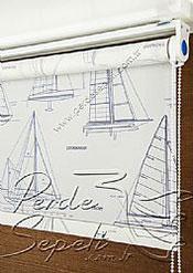 Yelkenler Baskılı Klasik Stor Perde - 4