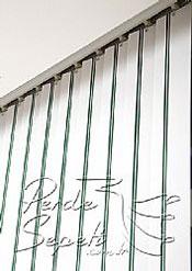 Yeşil Şeritli Seri Dikey Pvc Perde - 6